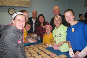 Families in Service Sandwich Making October 2014
